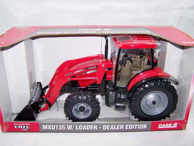 凯斯135拖拉机模型带前装载机 农机模型